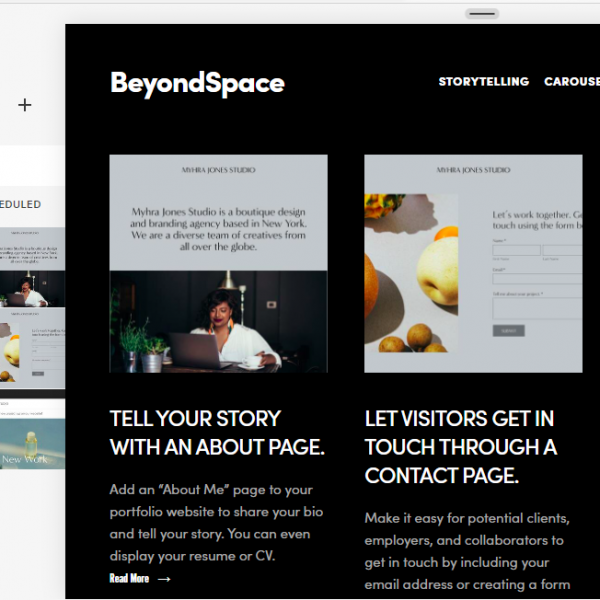 Squarespace Plugin: Side-by-Side sticky section
